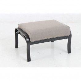 Sunvilla Laurel Patio Ottoman in Shale