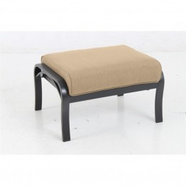 Sunvilla Laurel Patio Ottoman in Sesame