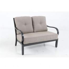 Sunvilla Laurel Patio Loveseat in Shale