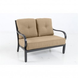Sunvilla Laurel Patio Loveseat in Sesame