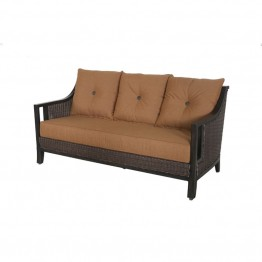 Sunvilla Pennant Wicker Patio Sofa in Teak