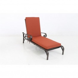 Sunvilla Riva Cushioned Patio Chaise Lounge in Brick