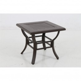 Sunvilla Allegro Square Patio End Table in Gray