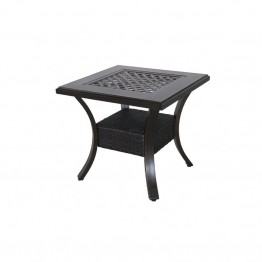 Sunvilla Somerset Square Patio End Table in Gray