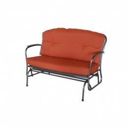 Sunvilla Monaco Steel Patio Loveseat in Brick