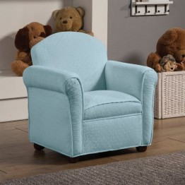 Coaster Isaac Upholstered Kids Chair in Baby Blue