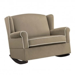 Baby Relax Lainey Wingback Rocker in Taupe