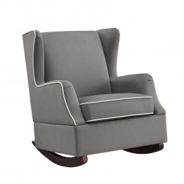 Baby Relax Hudson Wingback Rocker in Graphite Gray