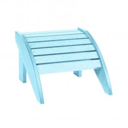 CR Plastic Generations Adirondack Foot Stool in Aqua