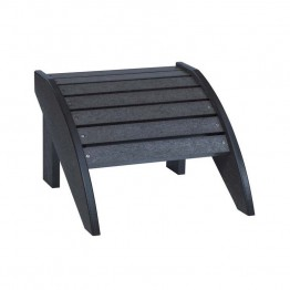 CR Plastic Generations Adirondack Foot Stool in Black