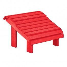CR Plastic Generations Premium Adirondack Foot Stool in Red