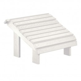 CR Plastic Generations Premium Adirondack Foot Stool in White
