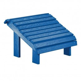 CR Plastic Generations Premium Adirondack Foot Stool in Blue