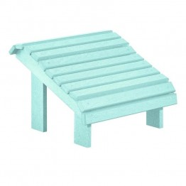 CR Plastic Generations Premium Adirondack Foot Stool in Aqua