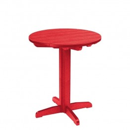 "CR Plastic Generations 32"""" Round Patio Pub Table in Red"