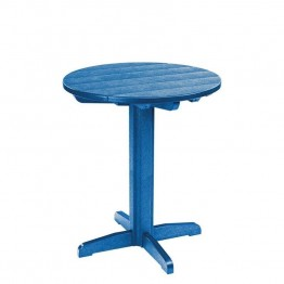 "CR Plastic Generations 32"""" Round Patio Pub Table in Blue"