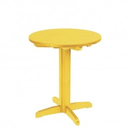 "CR Plastic Generations 32"""" Round Patio Pub Table in Yellow"