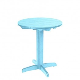 "CR Plastic Generations 32"""" Round Patio Pub Table in Aqua"