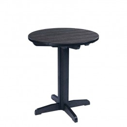 "CR Plastic Generations 32"""" Round Patio Pub Table in Black"