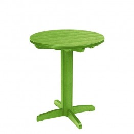 "CR Plastic Generations 32"""" Round Patio Pub Table in Kiwi"