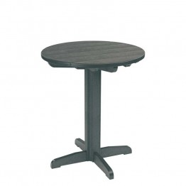 "CR Plastic Generations 32"""" Round Patio Pub Table in Slate Gray"