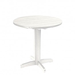 "CR Plastic Generations 37"""" Round Patio Pub Table in White"