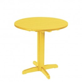 "CR Plastic Generations 37"""" Round Patio Pub Table in Yellow"