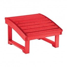 CR Plastic St Tropez Adirondack Foot Stool in Red