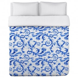 One Bella Casa Twin Polyester Duvet in Blue