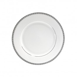 10 Strawberry Street Athens Lunch Plate in White and Silver (Set of 6)