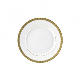 10 Strawberry Street Athens Butter Plate in White and Gold (Set of 6)