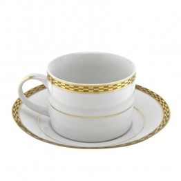 10 Strawberry Street Athens Cup and Saucer (Set of 6)