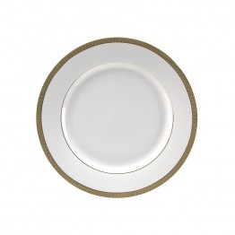10 Strawberry Street Luxor Lunch Plate in White and Gold (Set of 6)