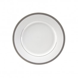 10 Strawberry Street Luxor Lunch Plate in White and Silver (Set of 6)