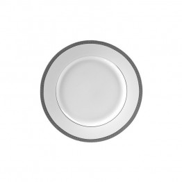 10 Strawberry Street Luxor Butter Plate in White and Silver (Set of 6)