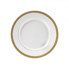 10 Strawberry Street Paradise Lunch Plate in White and Gold (Set of 6)