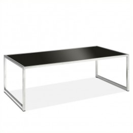Avenue Six Yield Black Glass Top Coffee Table