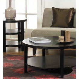 Avenue Six Merge 2 Piece Coffee and End Table Set in Espresso
