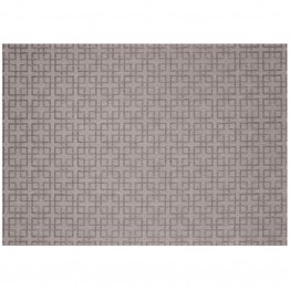 "SimplyShade Lattice 7'10"""" x 10' Patio Rug in Silver and Charcoal"
