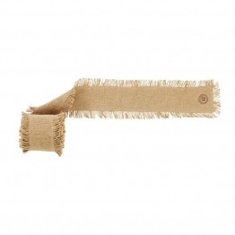 "VHC Brands Burlap Natural 144"""" Fringed Garland in Tan"