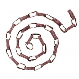 "VHC Brands Tacoma 6"""" Daisy Chain Garland in Red and Brown"