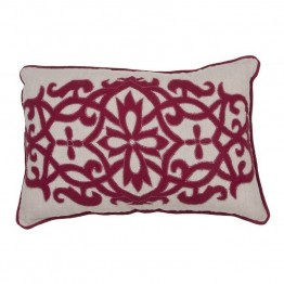 "Jaipur Rugs Inspired By Jennifer Adams Pillows 24"""" Linen Pillow in Red"
