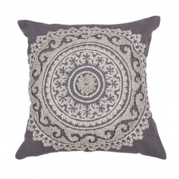"Jaipur Rugs Inspired By Jennifer Adams 22"""" Square Pillow in Dark Gray"