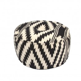 Jaipur Rugs Traditions Made Modern Cotton Cylinder Pouf in Black