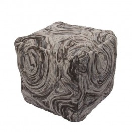 Jaipur Rugs National Geographic Home Wool Square Pouf in Dark Gray