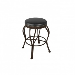 "Jericho 25"""" Counter Stool with Bonded Leather Seat in Dark Brown"