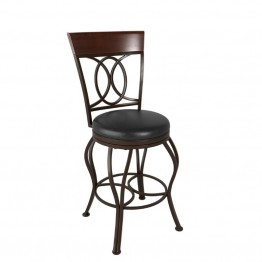 "Jericho 26"""" Counter Stool with Bonded Leather Seat in Dark Brown"