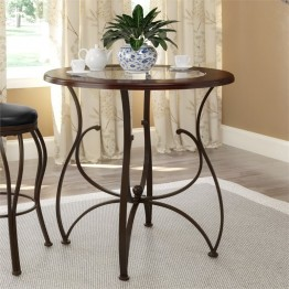 "Jericho 36"""" Counter Height Wood and Glass Dining Table"