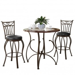 Jericho 3 piece Counter Height Bar Stool and Bistro Table Set