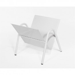 Monarch Metal Magazine Rack in White